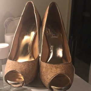 Badgley Mischka Cork Shoes
